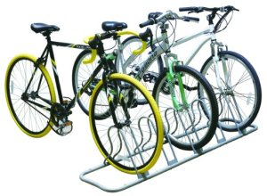 10.DecoBros 5 Bike Bicycle Floor Parking Adjustable Rack Storage Stand