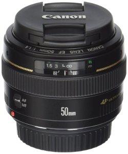 2. Canon EF 50mm USM Standard & Medium Telephoto Lens