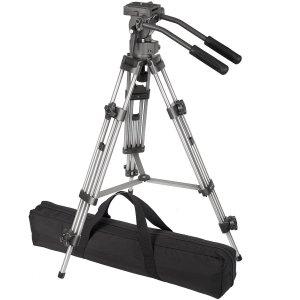 3. Ravelli AVTP Professional 75mm Video Camera Tripod with Fluid Drag Head