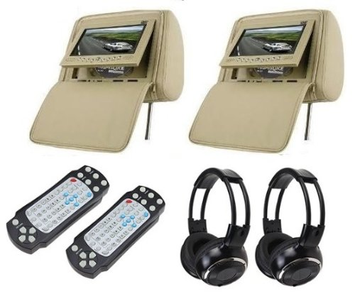 1. Zone Tech Headrest 7 LCD Car Monitors