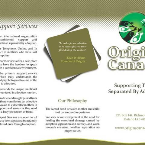 Tri-Fold Brochure Layout -- Origins Canada