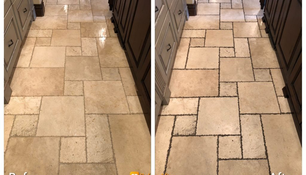 travertine tile and grout cleaning in