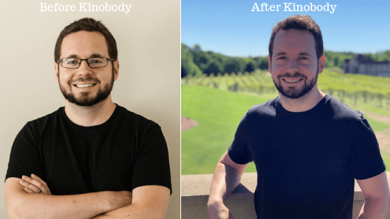 Before and after Kinobody