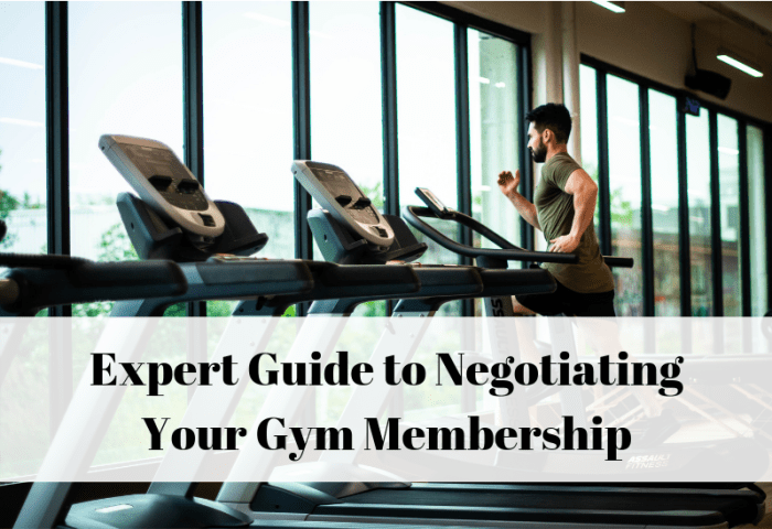 Negotiate your gym membership