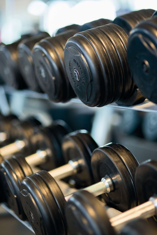 Dumbbells at Crunch and LA Fitness