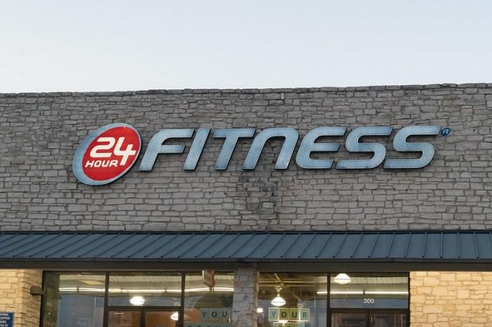 A 24 Hour Fitness gym facility