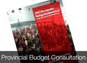 Provincial Budget Consultation