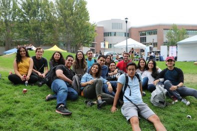 Students at the BBQ