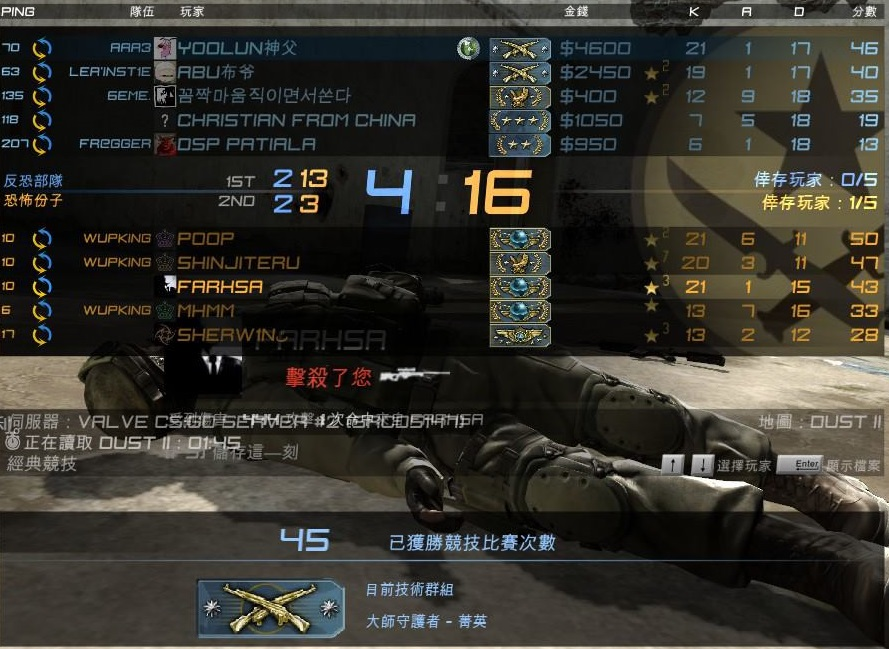 【心得】CSGO競技推廣:介紹競賽模式 (Match Making) @戰慄時空之絕對武力( CS ) 哈啦板 - 巴哈姆特