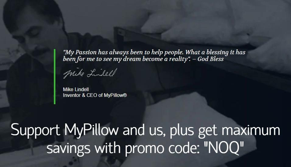 MyPillow MyPassion Promo Code NOQ