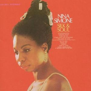 "The cover of Nina Simone's ""Silk and Soul"" album."