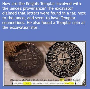 Templar coin in blue box 2