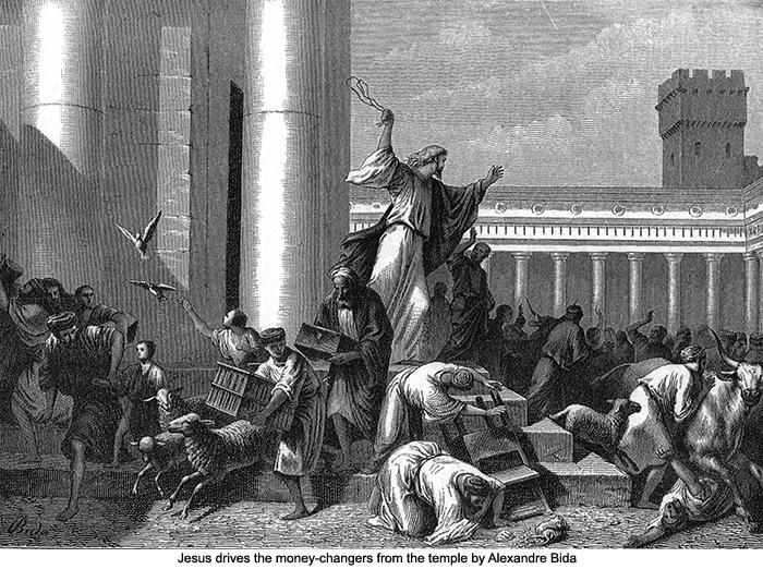 Αποτέλεσμα εικόνας για jesus breaks the merchants outside the church