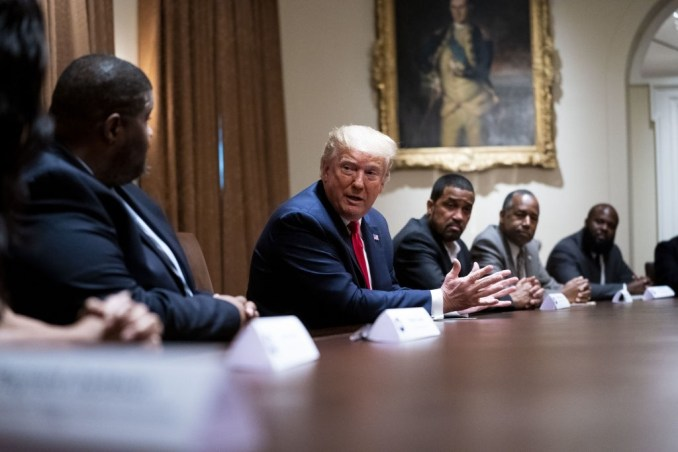 Police Violence, Not Systemic Issues Says Trump In Interaction With Black Pastors At Kenosha