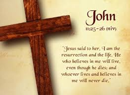 Cross and John 11-25 %22the resurrection and the life