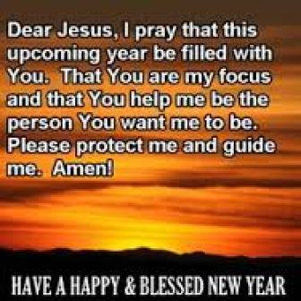 New year prayer to Jesus