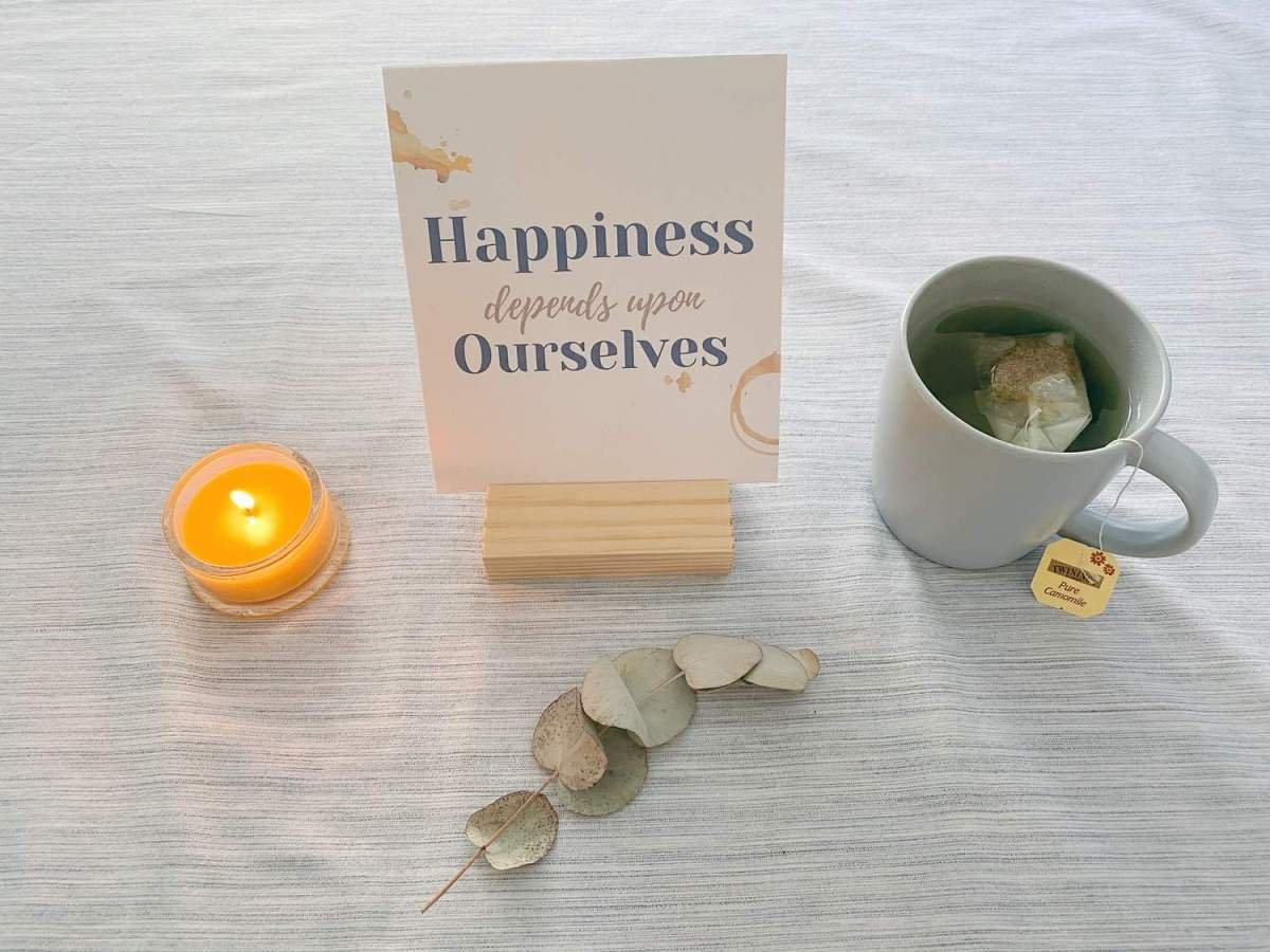 Happiness Quote Not Obvious