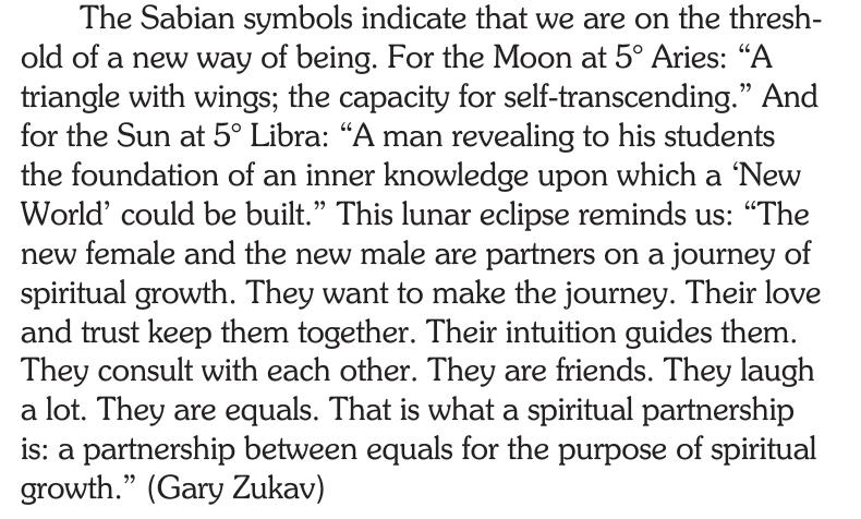 Sabian Symbol for the Lunar eclipse