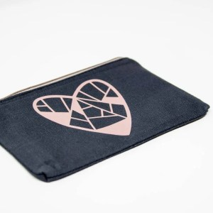 Canvas bag with treasured heart decal