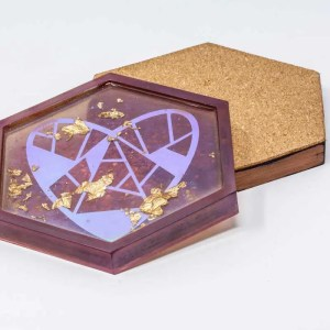 Treasured heart coaster