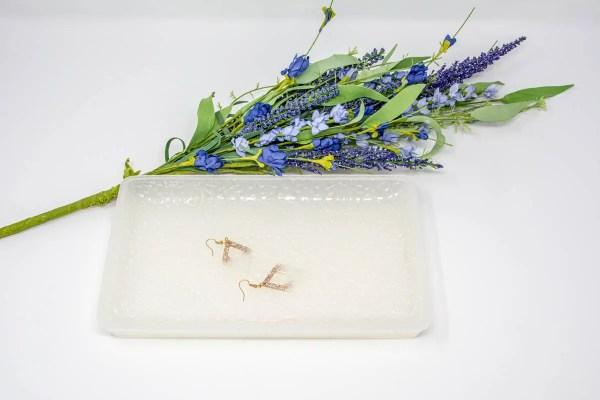 Precious Pearl Diamond Earrings on the Precious Pearl Vanity Tray
