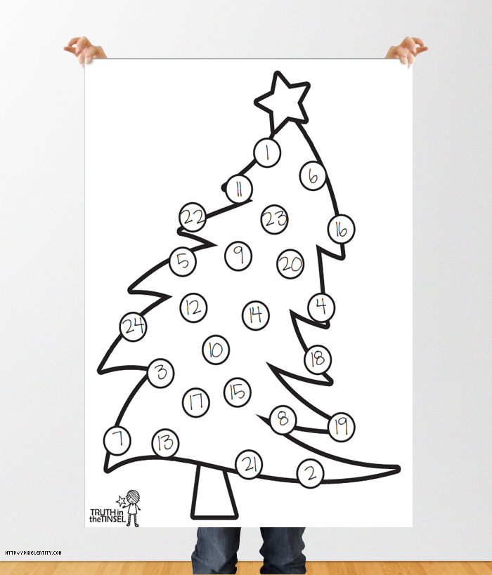 Truth In The Tinsel Printable Christmas Trees
