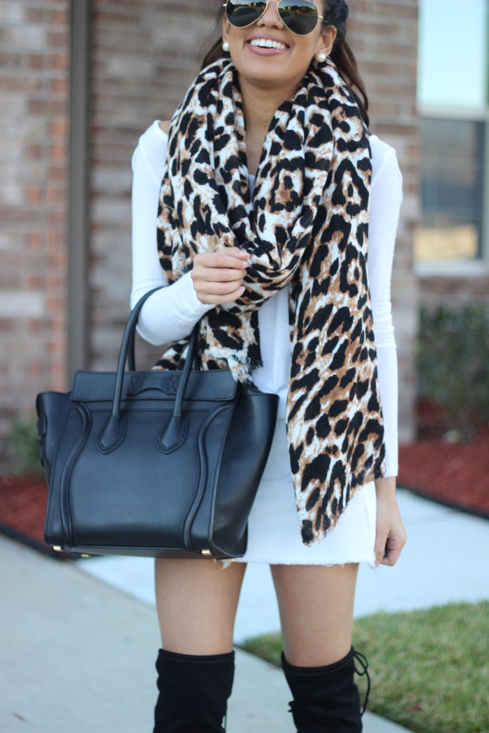 Oversized Leopard Print Scarf   Truth or Flares