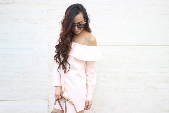 Cute off the shoulder dress