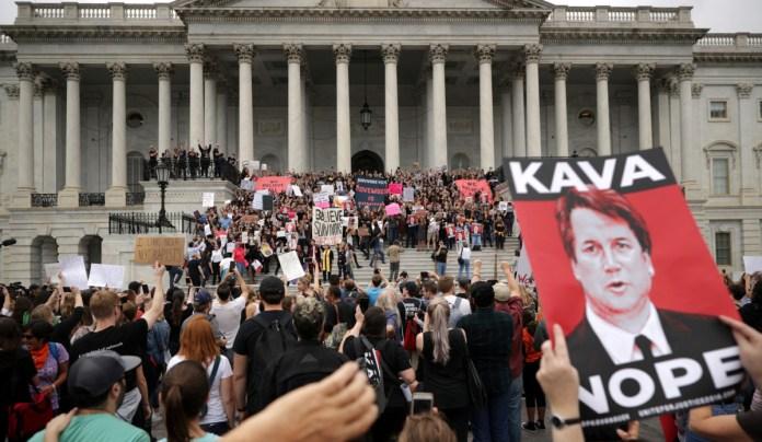 Justice Brett Kavanaugh on October 6, 2018, in Washington, DC.