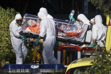 ebola, spain, fake, drill