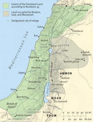 Image result for extent of the promise land Numbers 34