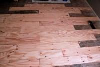 DIY Plywood Plank Flooring