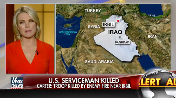"""A Navy SEAL was shot and killed by Islamic State fighters military (ISIS) today. Officials and a trainer who witnessed the fighting told Fox News that during an """"extremely heavy, extremely intense"""" firefight with U.S. forces."""