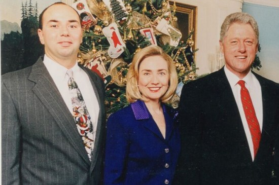 Gary Byrne at a Christmas Party With the Clintons