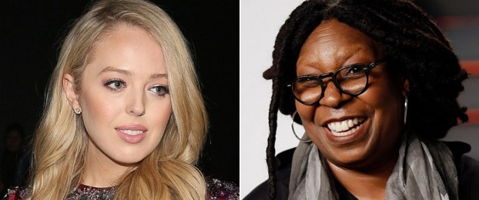 Tiffany Trump Accepts Whoopi's Invitation To Sit Together At NY Fashion Week (Video)
