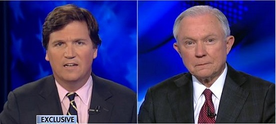 Tucker To Sessions: Why Didn't You Amend Answers On Russia Contact After Flynn Controversy?
