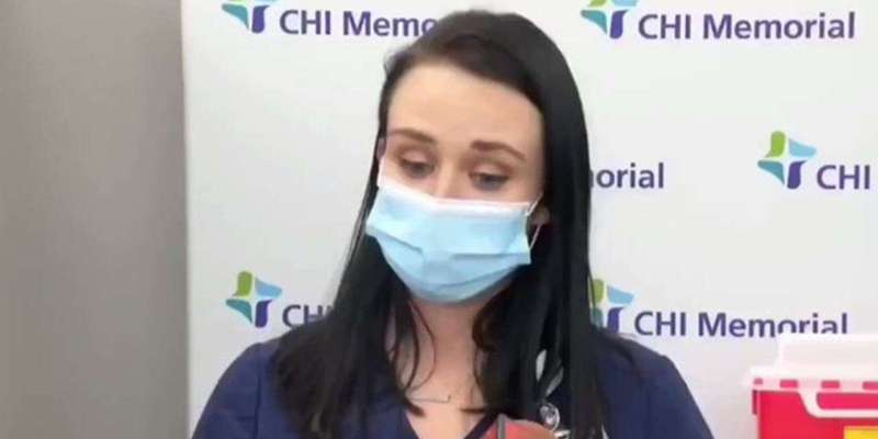 Nurse fainted after taking covid-19 vaccine