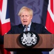 Boris Johnson making speech