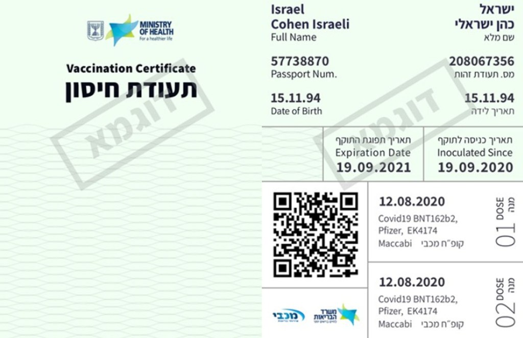 Vaccinated Israelis Get 'Green Pass' to Normal Life