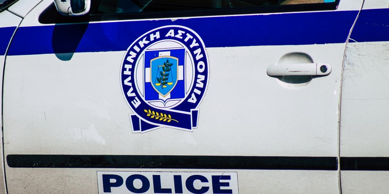Police car in Athens Greece