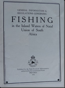 Fishing the Inland Waters of Natal 1936-2