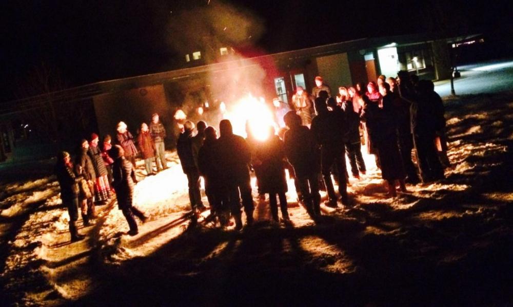 Our bonfire during Solstice celebration