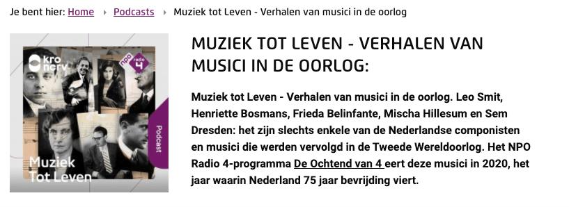 Podcast en muziek Bertus van Lier