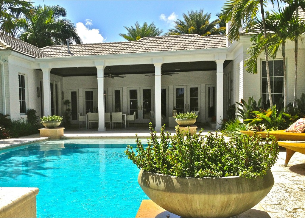 Garden patio Biophilic design Created by Biophilic designer Jeffrey Allis in Delray Beach Florida USA