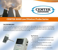 Cemtek Literature on Model 8000 Low Dilution Probe
