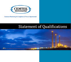 Cemtek Literature STATEMENT OF QUALIFICATIONS