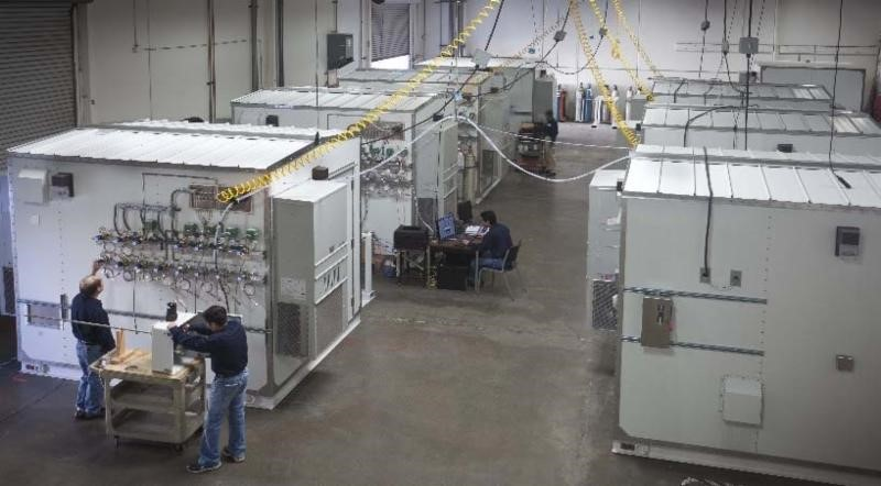 Cemtek Assembly area showing multiple CEMs with large enclosures