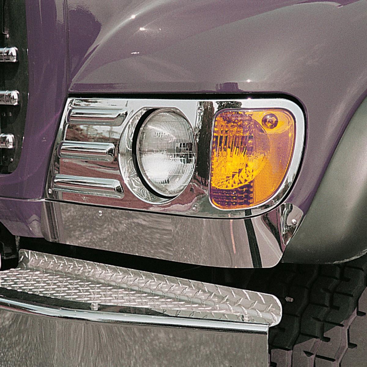 hight resolution of mack ch under headlight fender guard for set forward axle