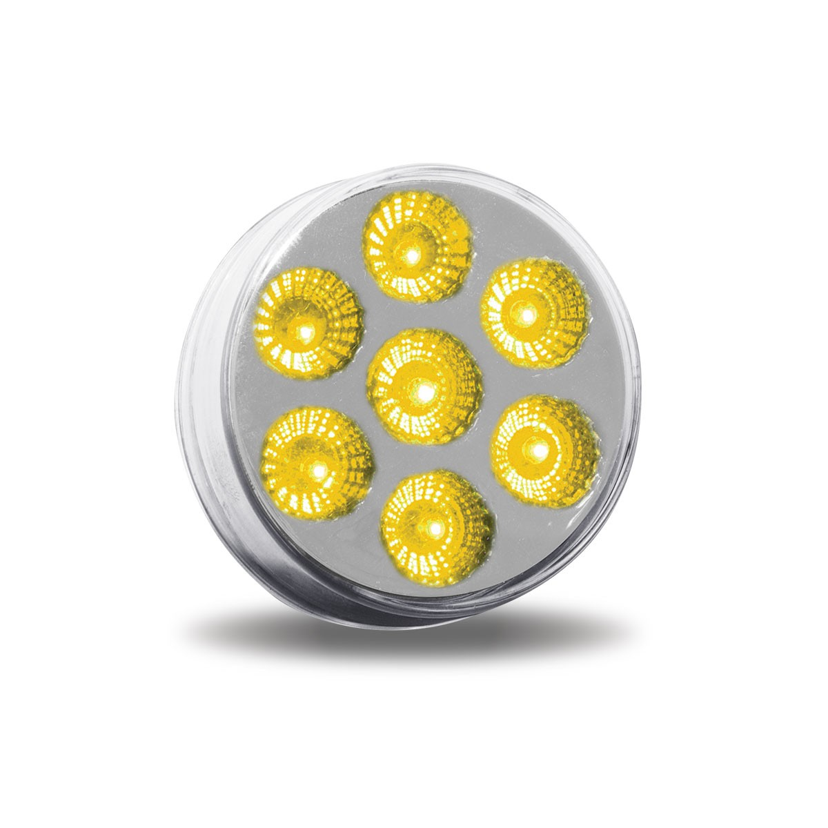 Led Rund 2 Quot Clear Amber Round Led Marker Light 7 Diodes 2