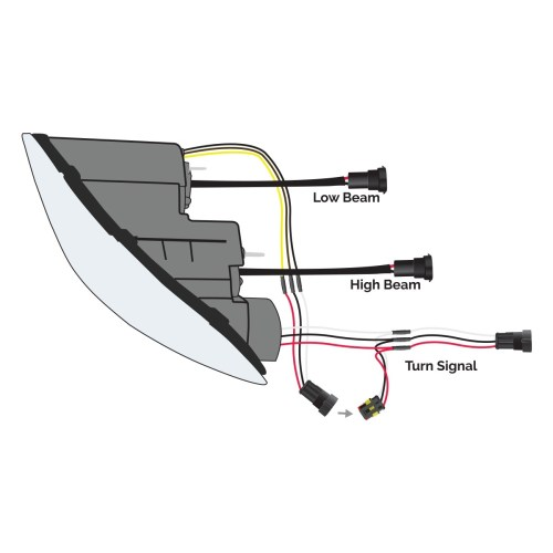 small resolution of  fl70 wiring diagram ftl cascadia black led projector headlight embly driver side on freightliner